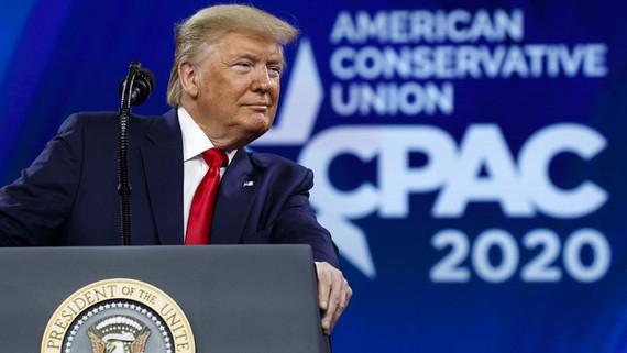 Tổng thống Mỹ Donald Trump tại CPAC 2020. Ảnh: FOX NEWS