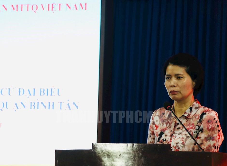 Ứng cử viên Lê Thị Thu Hương, Vụ trưởng Vụ Quản lý doanh nghiệp, Bộ Giao thông Vận tải